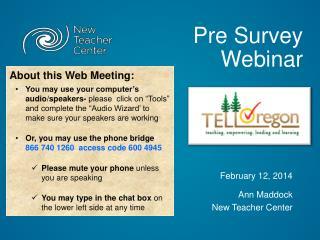 Pre Survey Webinar