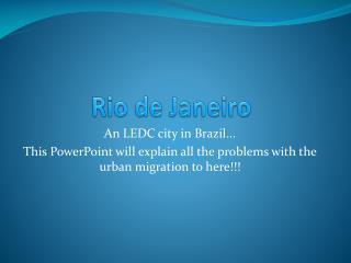 Rio de  J aneiro