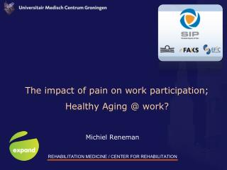 The impact of pain on work participation;  Healthy Aging @ work?