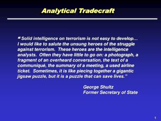 analytical tradecraft