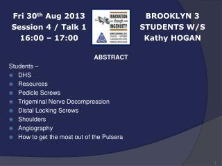BROOKLYN 3 STUDENTS W/S Kathy HOGAN