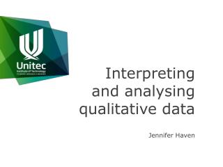 Interpreting and analysing qualitative data