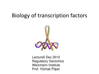 Biology of transcription factors