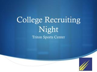 College Recruiting Night