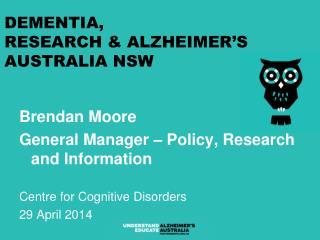 Dementia,  Research & Alzheimer�s Australia NSW
