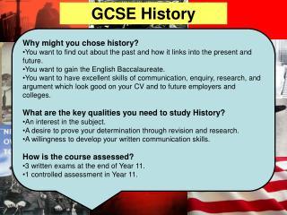 GCSE History  at TCS