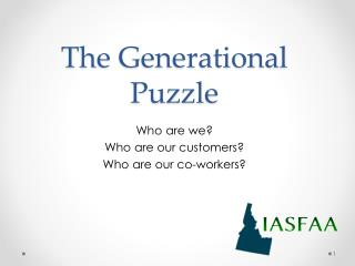 The Generational Puzzle