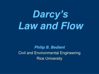 darcy s  law and flow