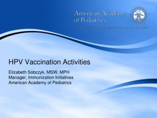 HPV Vaccination Activities