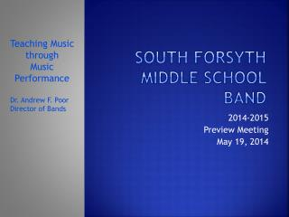 South Forsyth Middle School Band