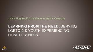 Learning from the Field:  Serving LGBTQI2-S Youth Experiencing Homelessness
