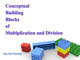 Conceptual  Building  Blocks  of  Multiplication and Division