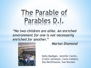 The Parable of Parables D.I.