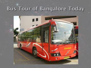 Bus Tour of Bangalore Today