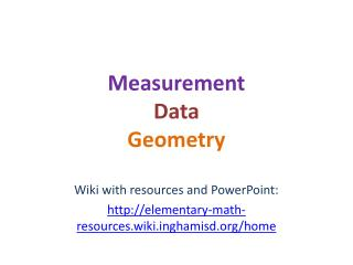Measurement Data Geometry