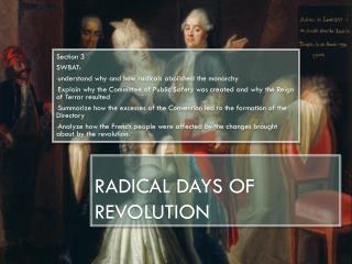 Radical Days of Revolution