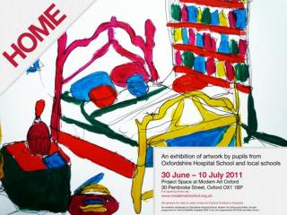 HOME About the Project This exhibition shows artwork that  investigates and reflects on the theme of home created by  y