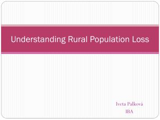 Understanding Rural Population Loss