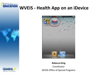 WVEIS - Health App on an  iDevice