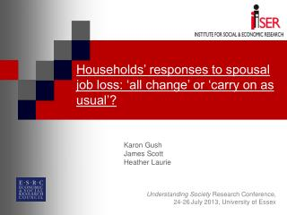 Households' responses to spousal job loss: 'all change' or 'carry on as usual'?