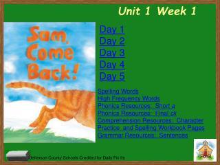 Unit  1 Week  1