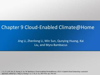 Chapter 9 Cloud-Enabled Climate@Home