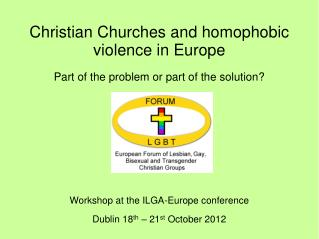 Christian Churches and homophobic violence in Europe