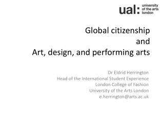 Global citizenship and Art, design, and performing arts