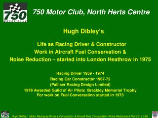 750 Motor Club, North  Herts  Centre