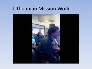 Lithuanian Mission Work