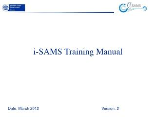 i-SAMS Training Manual