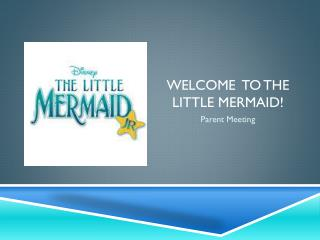 Welcome  to the Little mermaid!