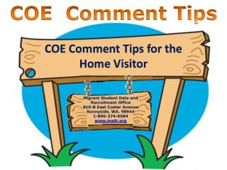 COE  Comment Tips