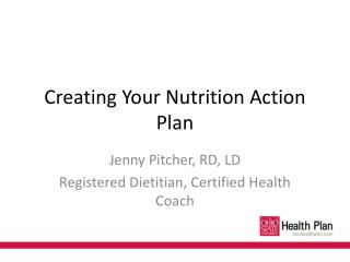 Creating Your Nutrition Action Plan