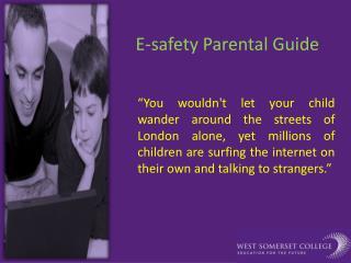 E-safety Parental Guide