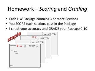 Homework –  Scoring  and  Grading