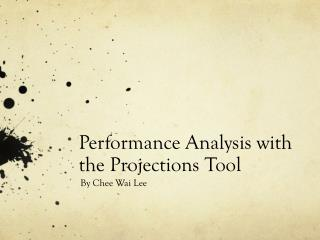 Performance Analysis with the Projections Tool