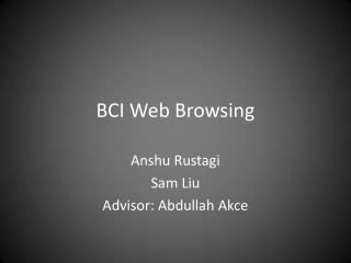 BCI Web Browsing