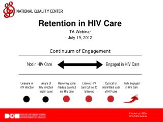 Retention in HIV Care TA Webinar July 19, 2012
