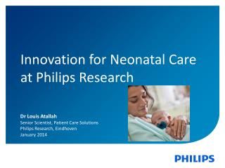 Innovation for Neonatal Care at Philips Research