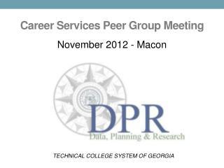 Career Services Peer Group Meeting