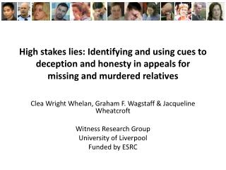High stakes lies: Identifying and using cues to deception and honesty in appeals for missing and murdered relatives