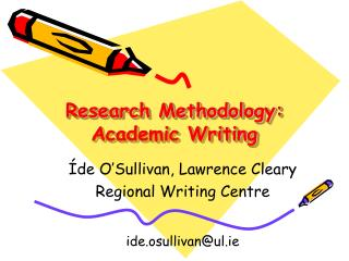 research methodology: academic writing