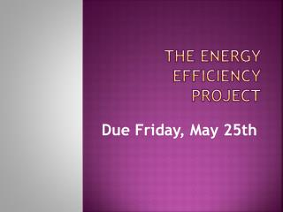 The Energy Efficiency Project
