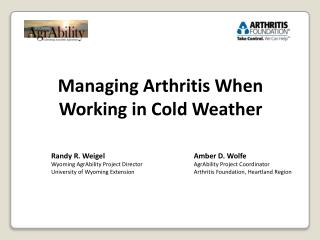 Managing Arthritis When Working in Cold Weather