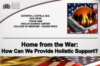 Home from the War:  How Can We Provide Holistic Support?