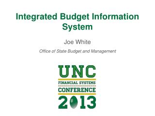 Integrated Budget Information System