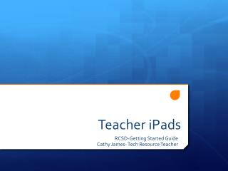 Teacher  iPads
