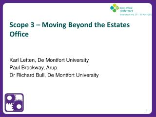 Scope 3 – Moving Beyond the Estates Office