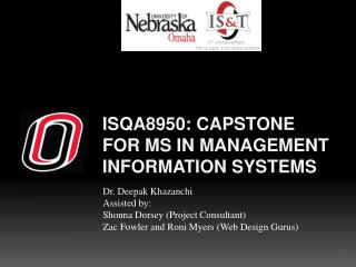 ISQA8950: Capstone for MS in Management Information Systems